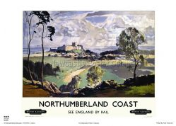 Northumberland - Coast - Railway & Travel Poster